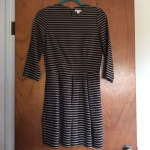 GAP fit and flare long sleeve dress